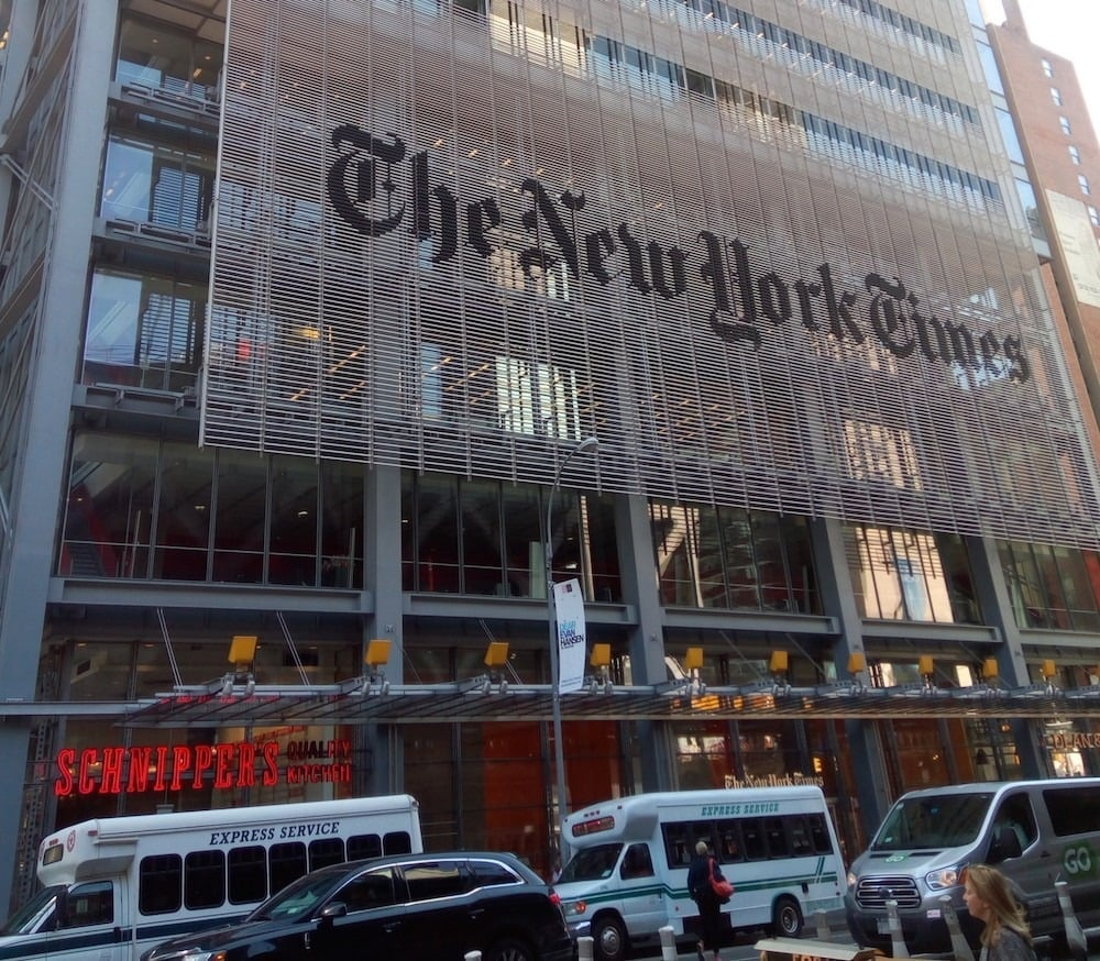 New York Times Apologizes For