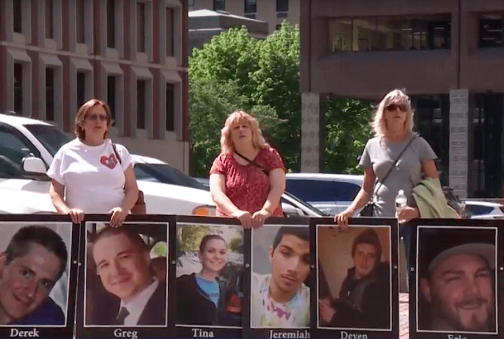 Families, Activists Protest At Opioid Lawsuit Hearing In Massachusetts